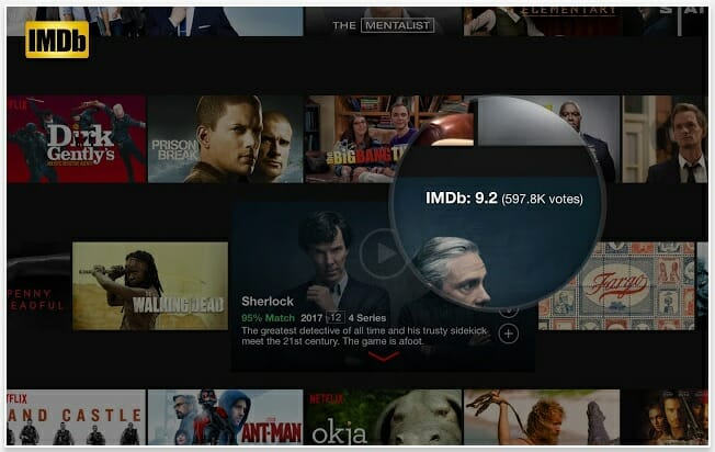 best chrome plugins : imdb ratings for netflix