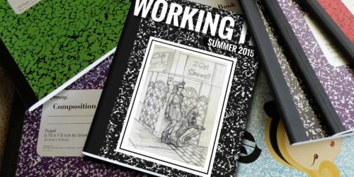 Working It zine as a composition notebook