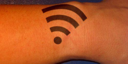 Wi Fi tattoo wrist