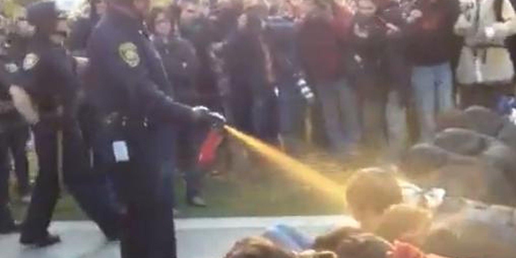 UC Davis peppersprayed