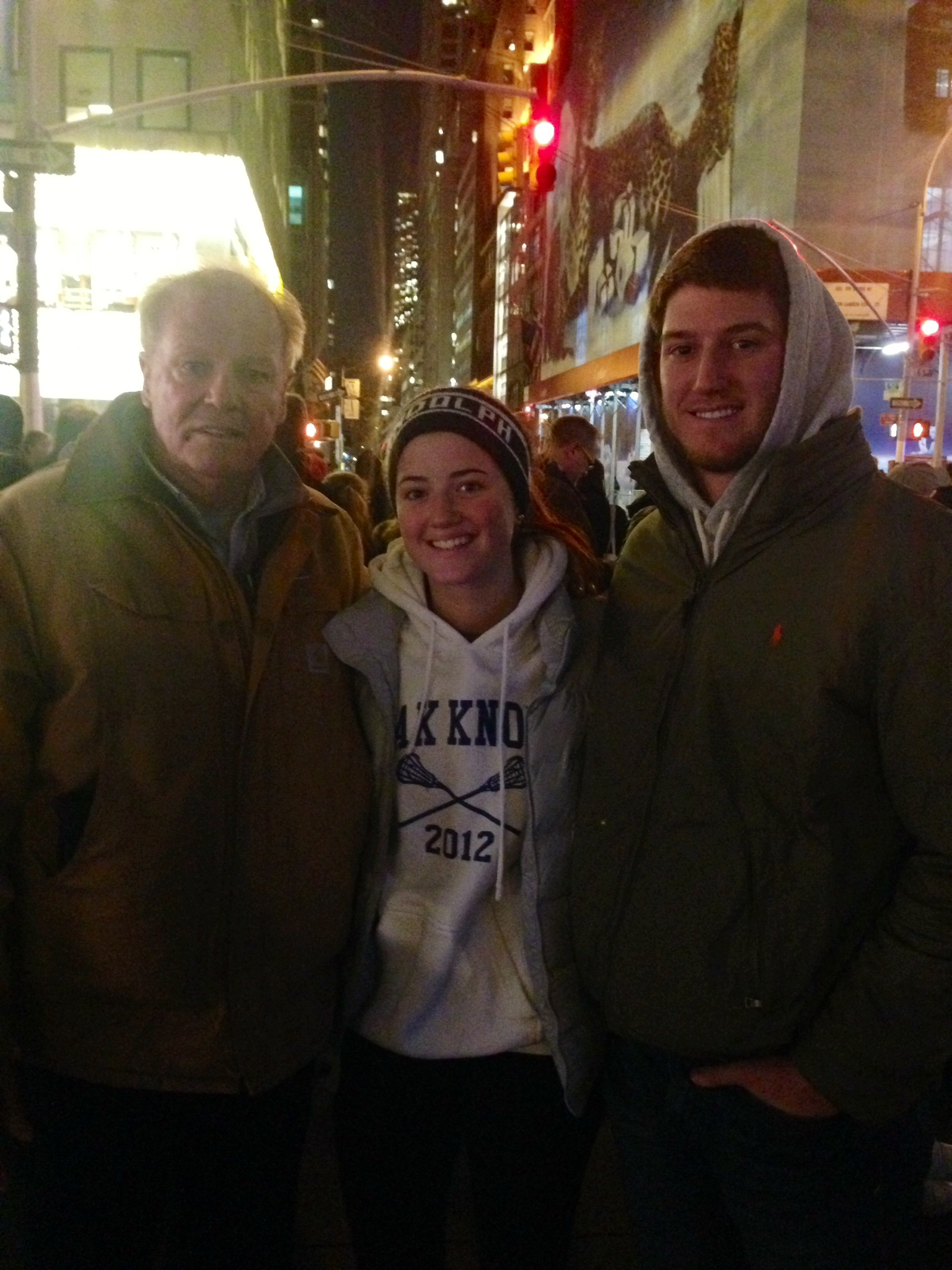 Bill, Kelsea and Conor of Morris County, New Jersey.