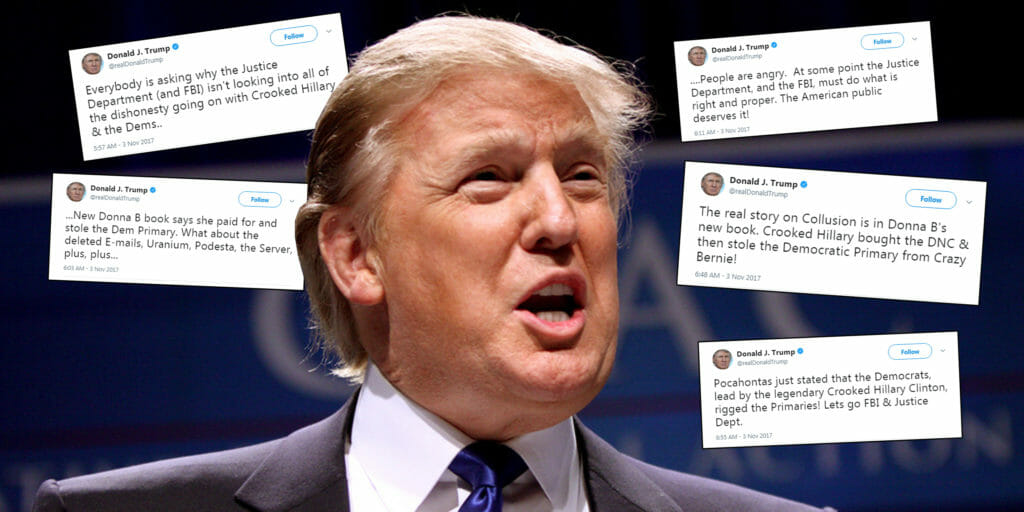 Donald Trump went on a wild tweetstorm on Friday morning.