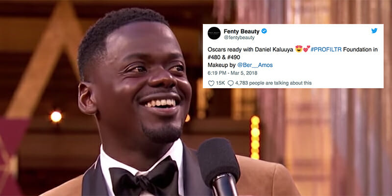'Get Out' Star Daniel Kaluuya Wore Fenty Beauty To The Oscars