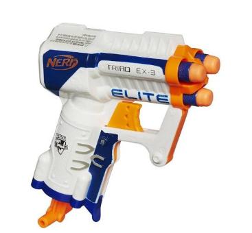 best nerf guns: Nerf N-Strike Elite Triad Ex-3 Micro Blaster