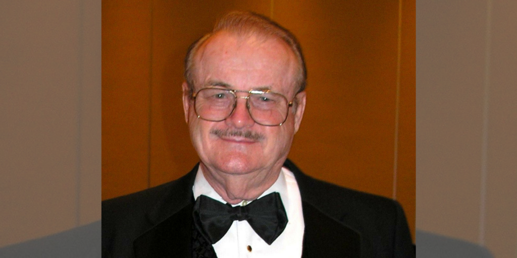 Jerry Pournelle in a tuxedo