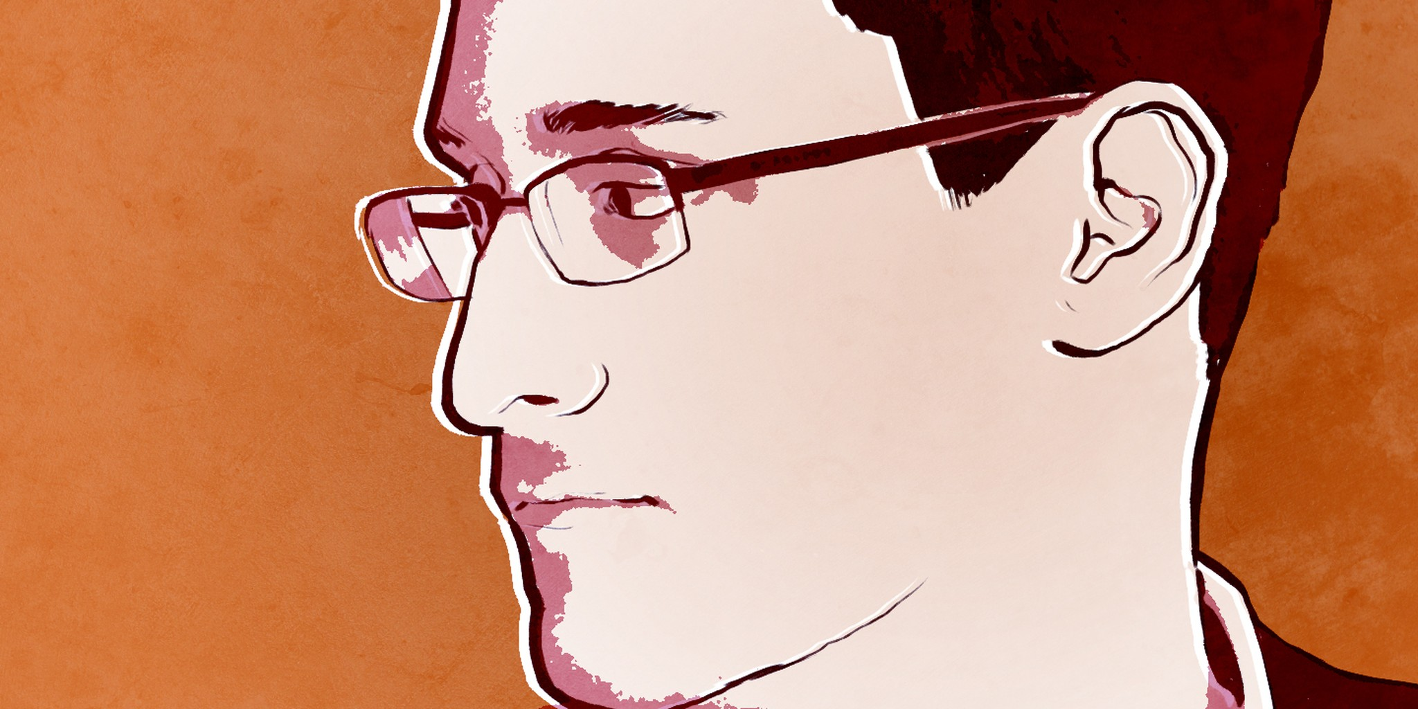 illustration of edward snowden