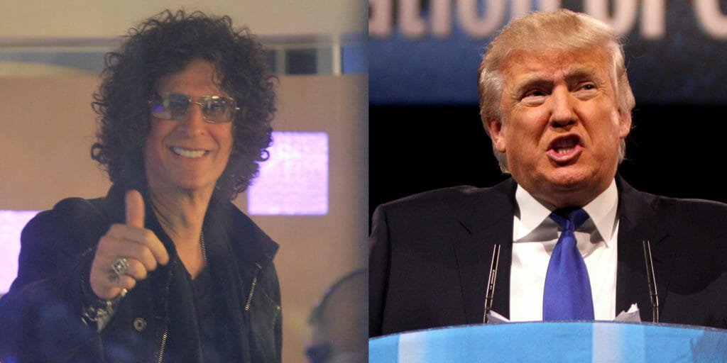 Howard Stern and Donald Trump