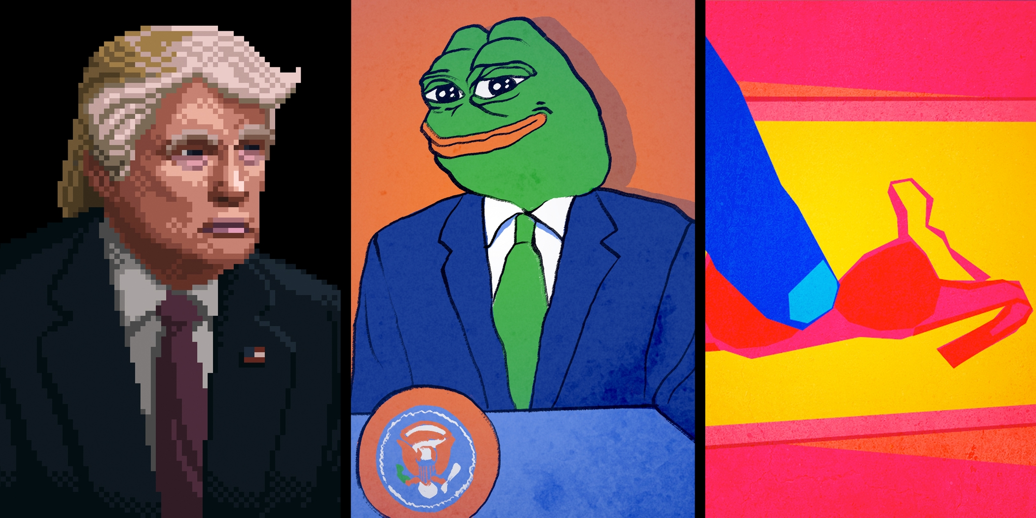 Donald Trump and Pepe Le Frog