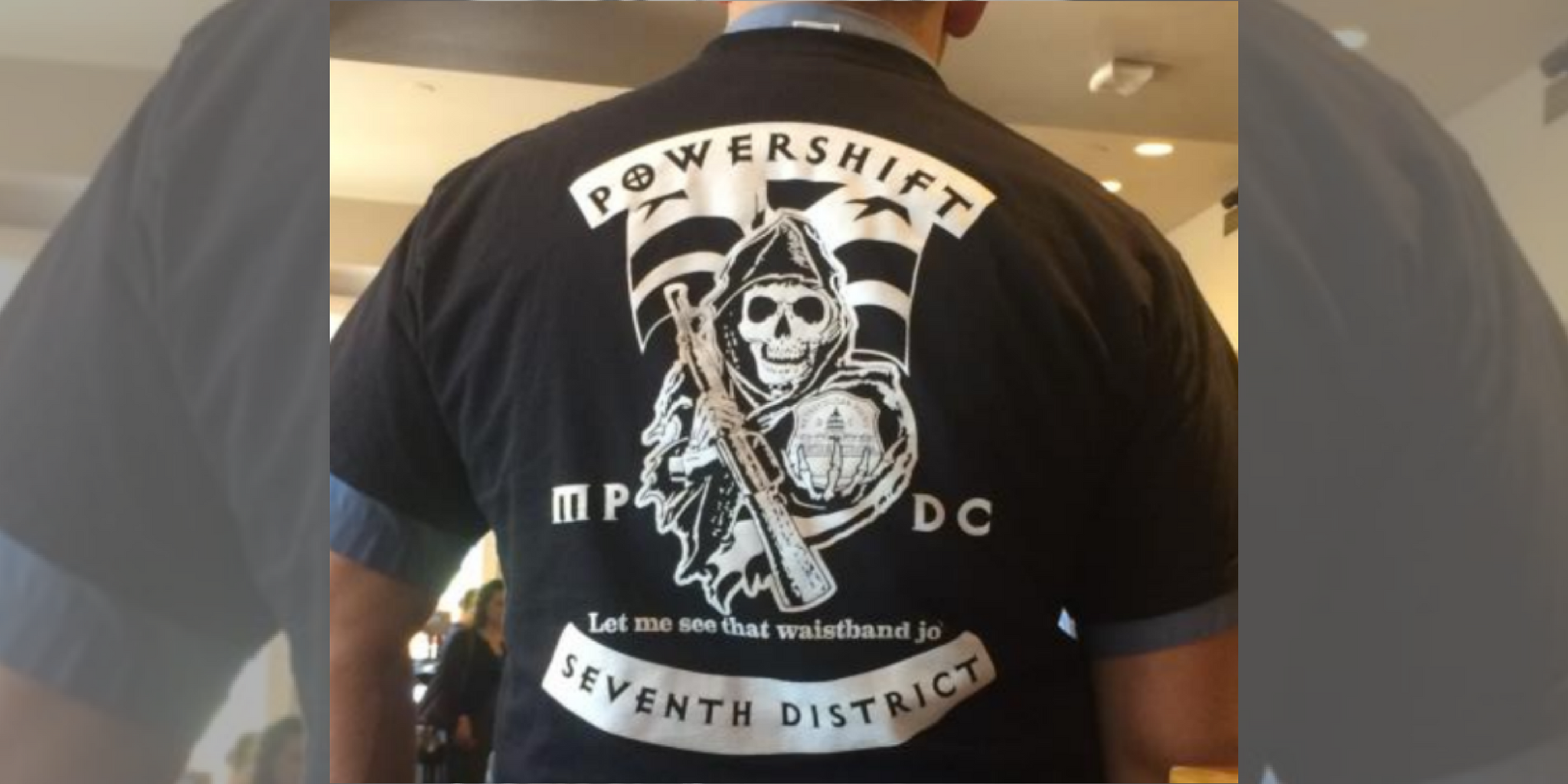 A Washington D.C. cop is accused of wearing a shirt with white supremacist and police brutality messages