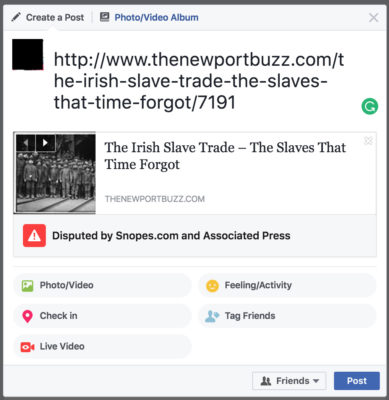Facebook new feature shows when stories are 'disputed by fact-checkers'