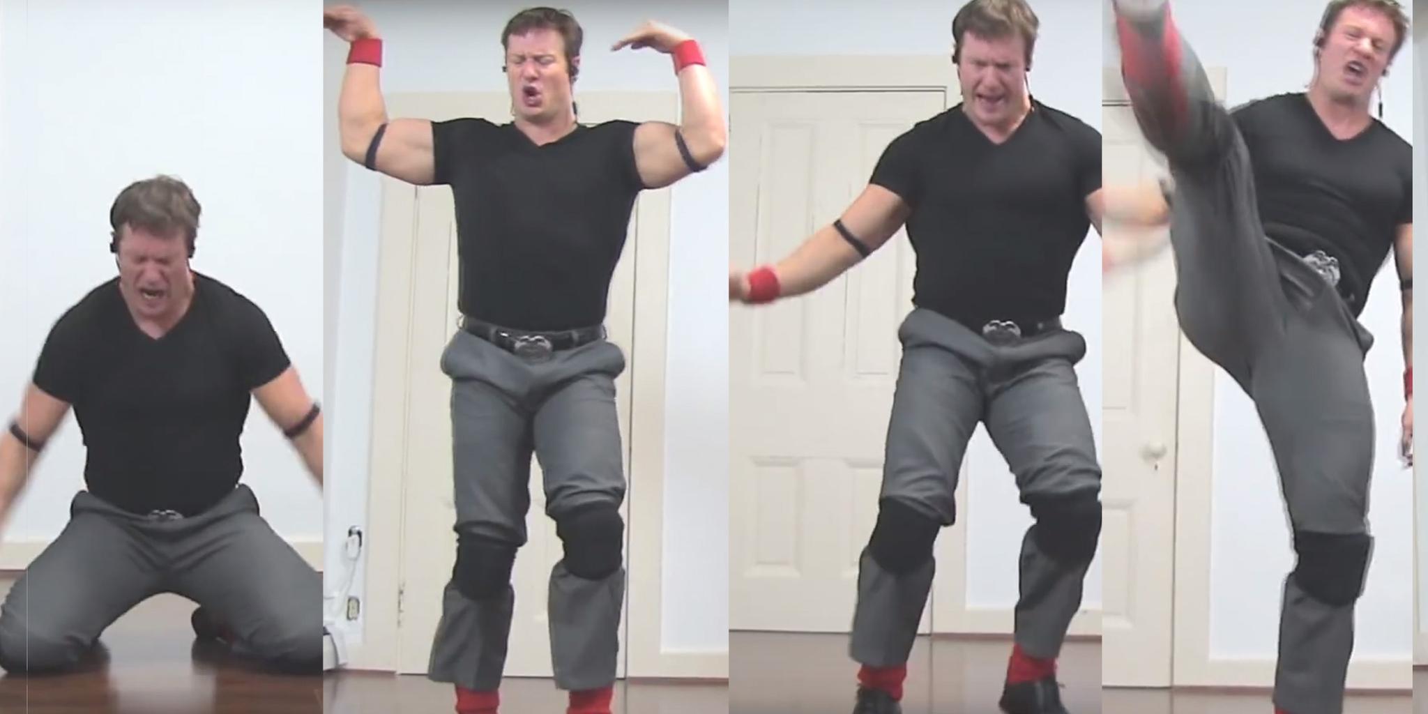 sequence of images of Ben Ryan Metzger dancing