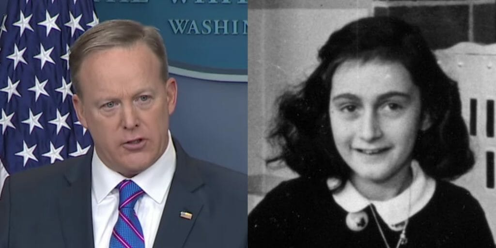 Sean Spicer and Anne Frank
