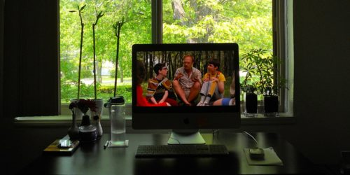 Wet Hot American Summer on computer screen