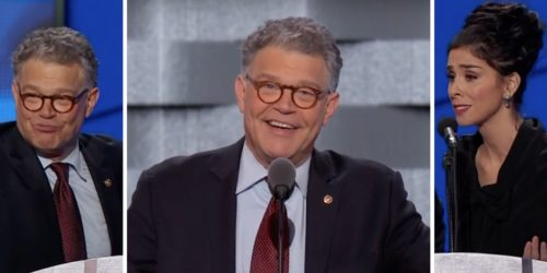 Al Franken and Sarah Silverman at DNC 2016
