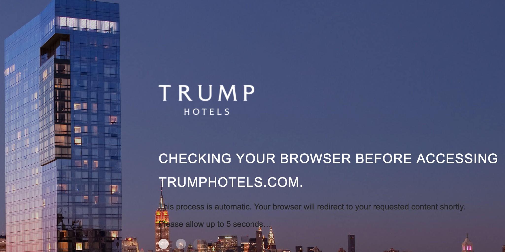 Trump Hotels website