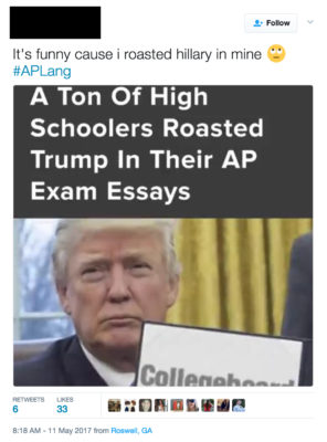 High school kids are roasting Trump in their AP exams