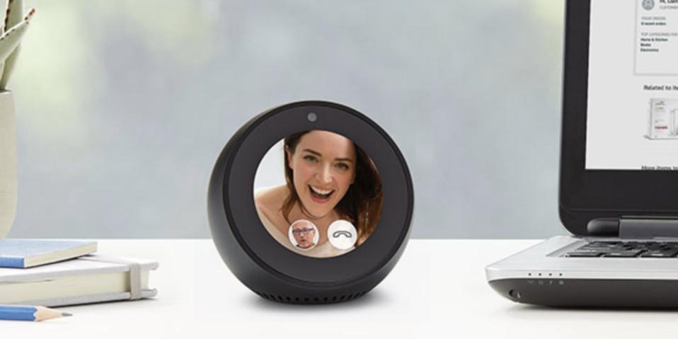 amazon echo spot touchscreen alexa device