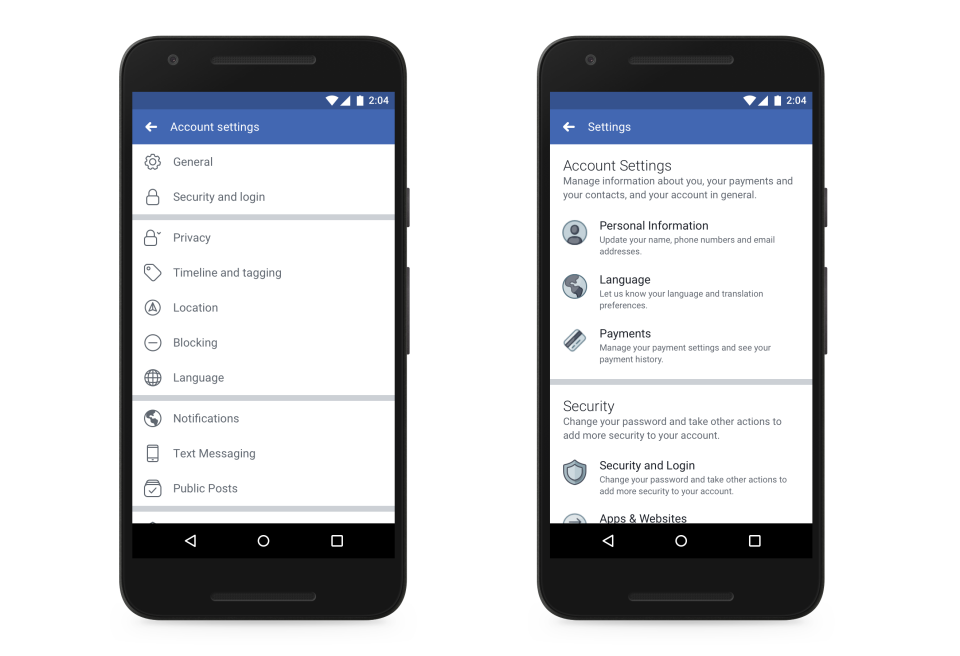 facebook new privacy settings