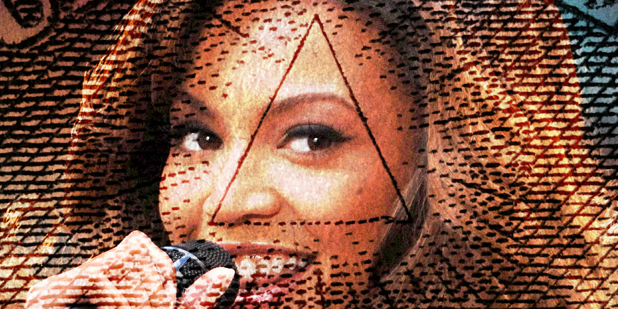 Beyonce Knowles with Eye of Providence