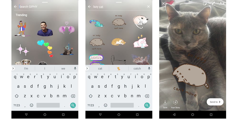 instagram video gif stickers