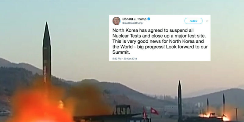 North Korea has said it will halt testing of nuclear and missile weapons.