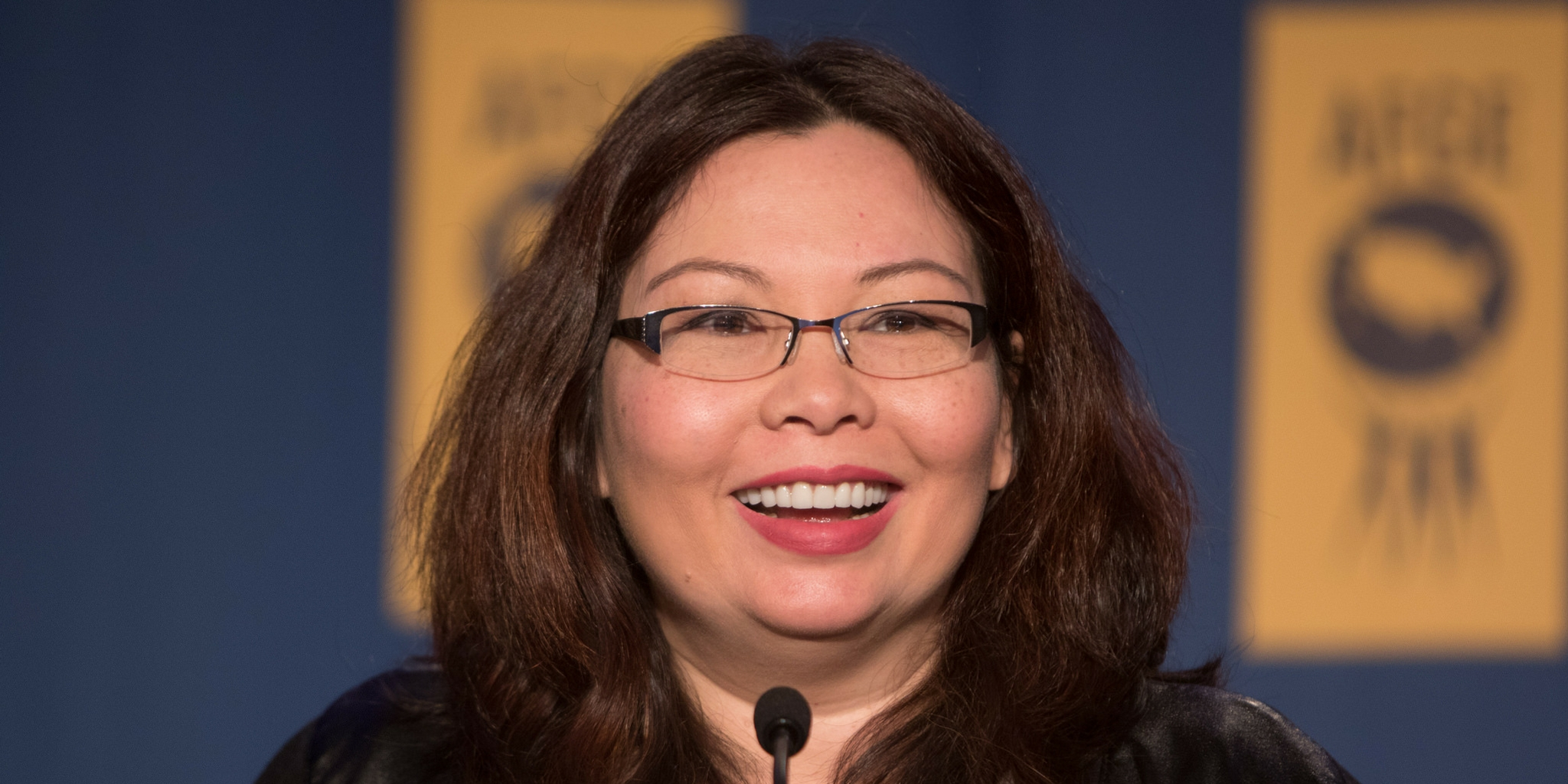 Illinois Democratic Sen. Tammy Duckworth at a American Federation of Government Employees conference.