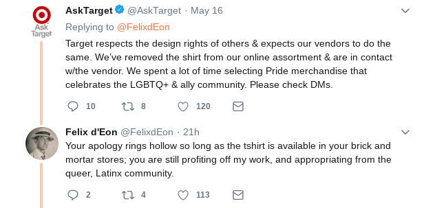 Queer Latinx painter Felix d'Eon alleges Target stole one of his designs for a t-shirt.