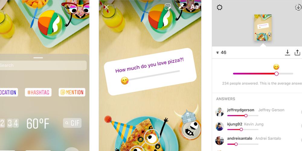 Instagram emoji slider screen grabs