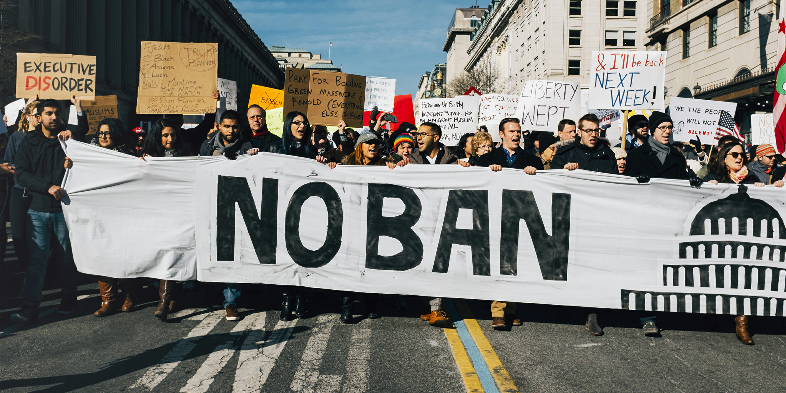 muslim travel ban protest