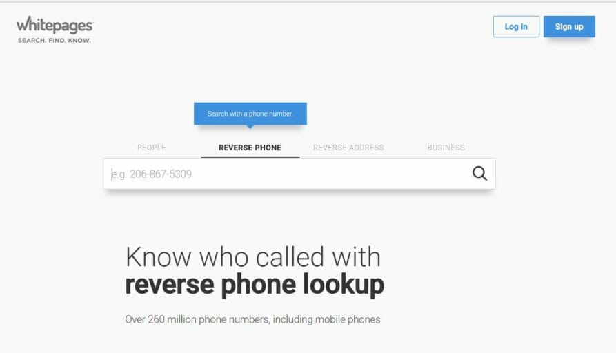 whitepages - free reverse phone lookup