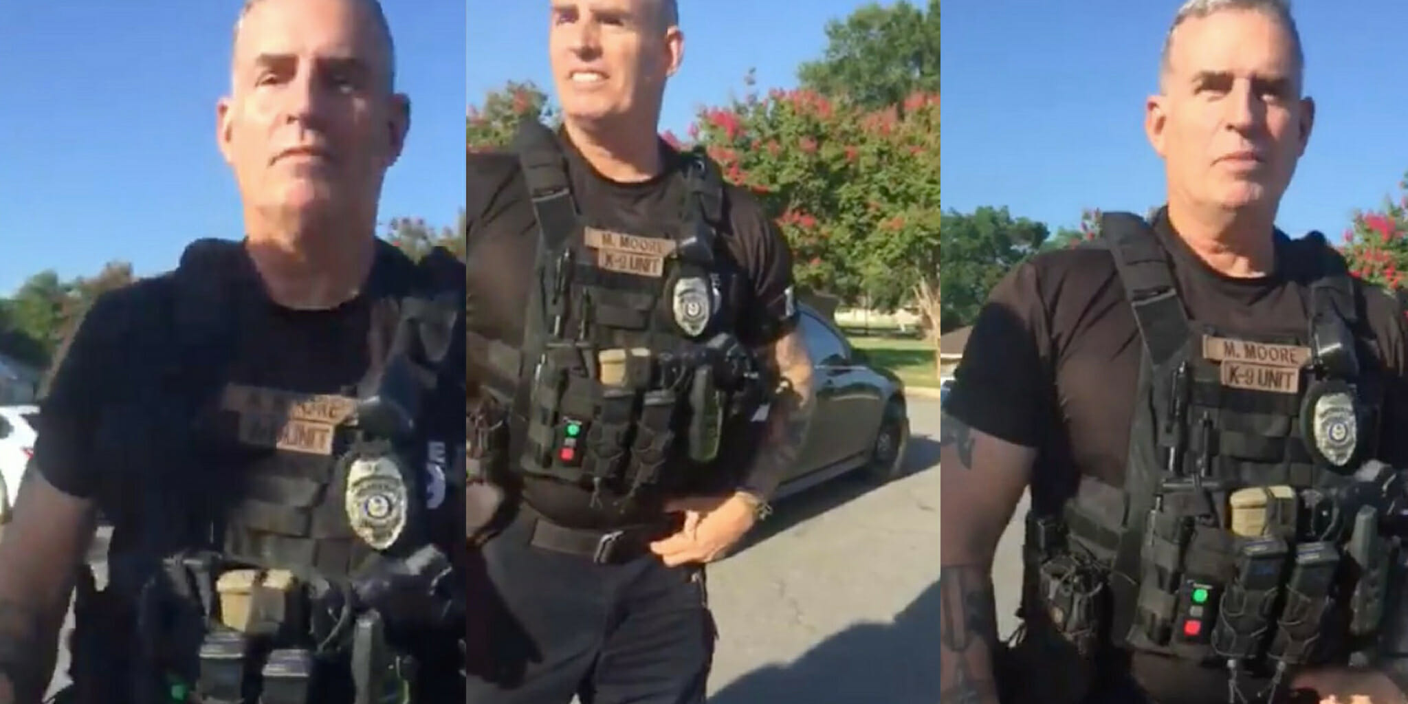 Arkansas officer Michael Moore was fired after telling Black former residents they 'didn't belong.'