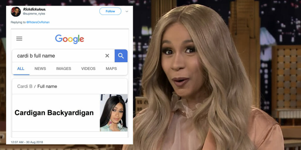This hilarious Twitter meme reimagines celebs' real names with hilarious results.