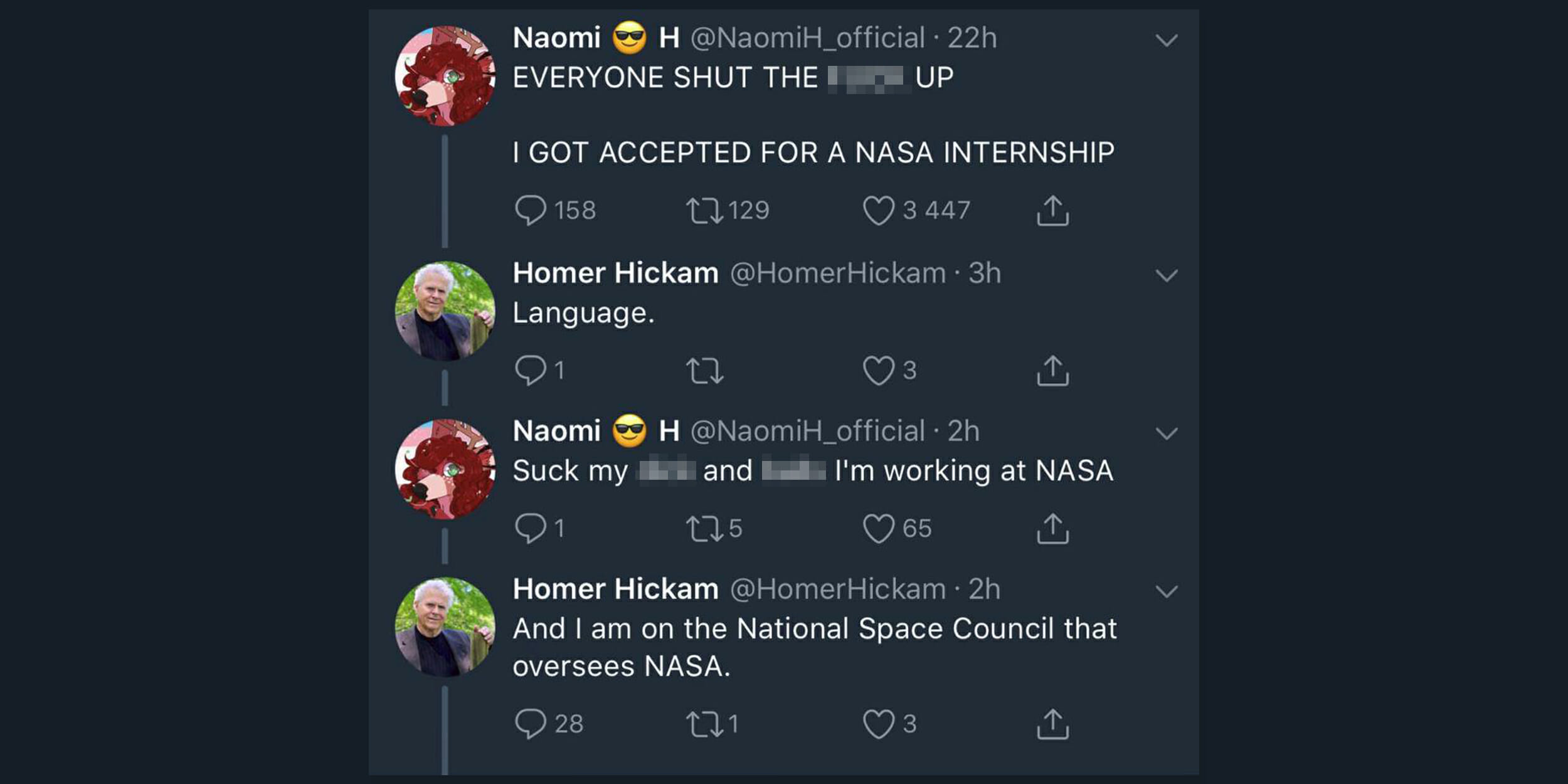 Woman loses NASA Internship after vulgar tweet