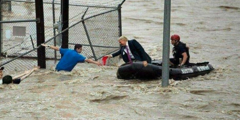 Trump flood rescue meme resurfaces after Hurricane Florence