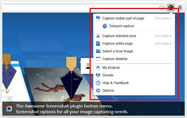 best google chrome extensions : awesome screenshot