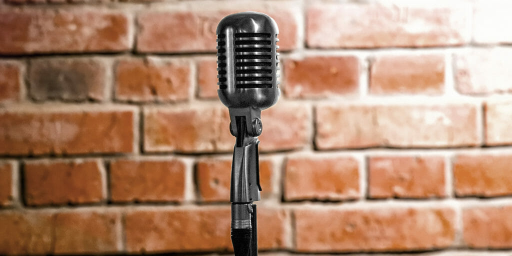 microphone empty stage standup comedy
