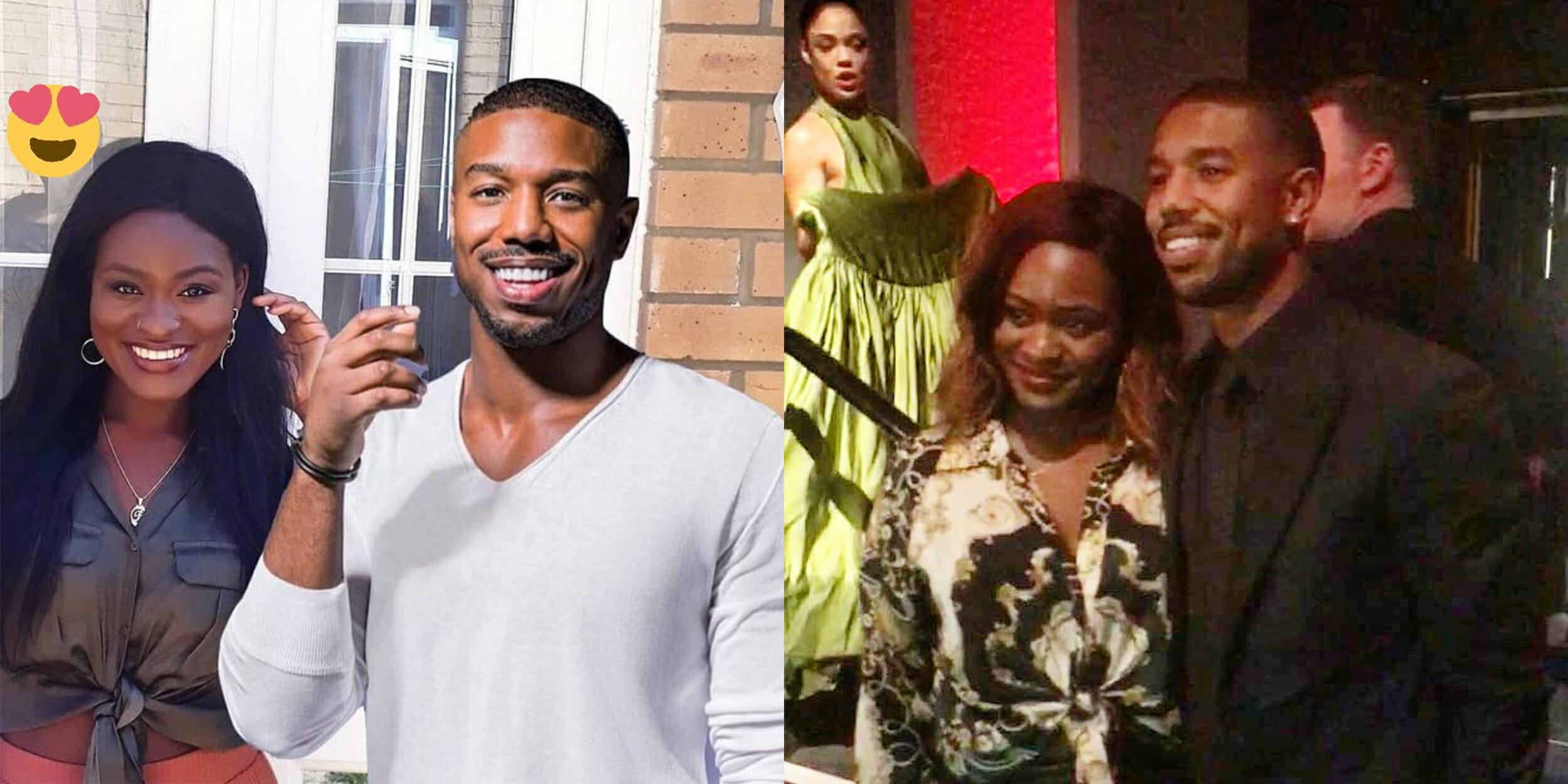 A woman met Michael B. Jordan after asking Twitter to help her find him