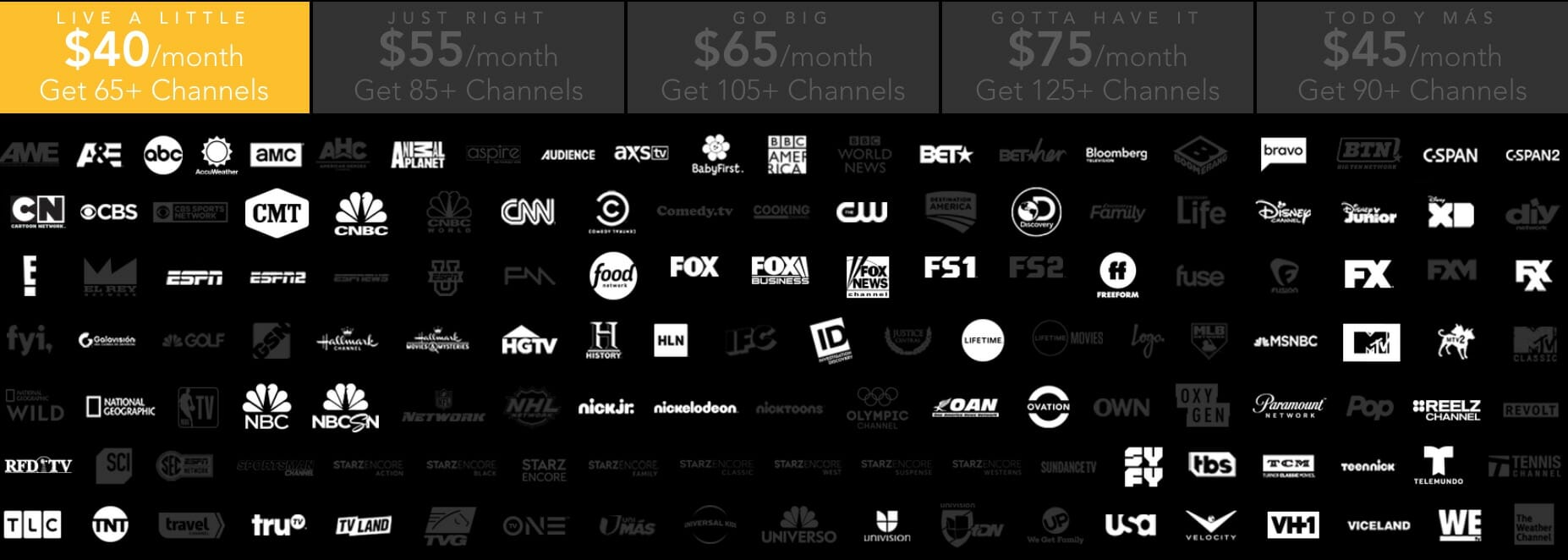sling tv competitors DirecTV Now
