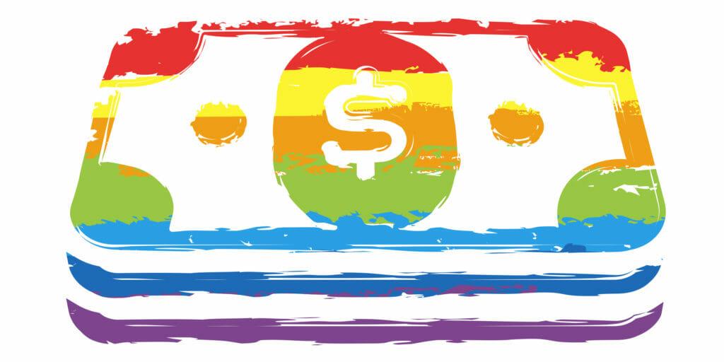 lgbt flag money