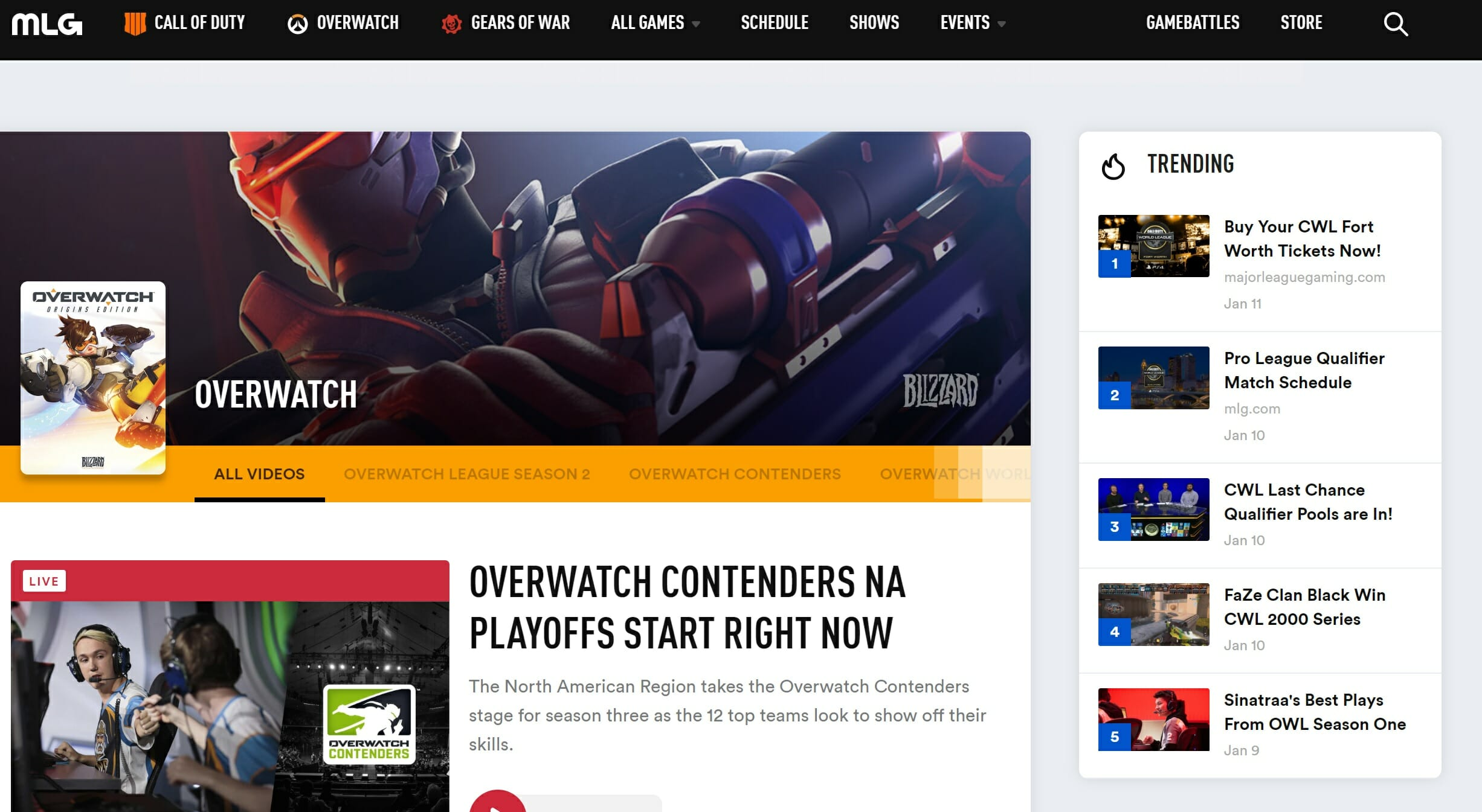 overwatch league live stream mlg