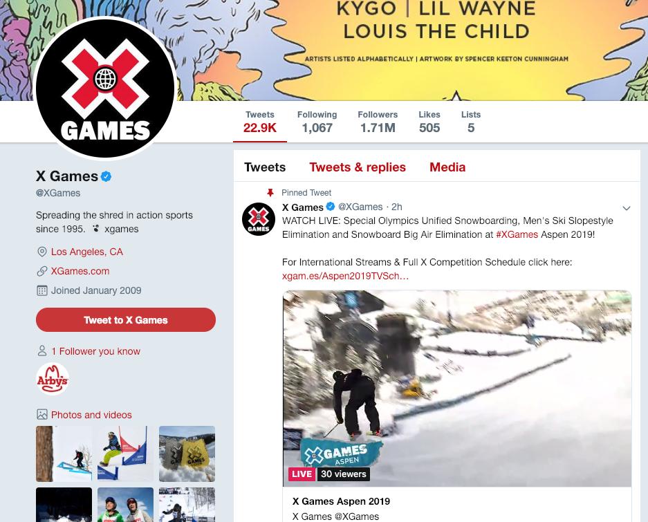 watch winter x games online free on Twitter