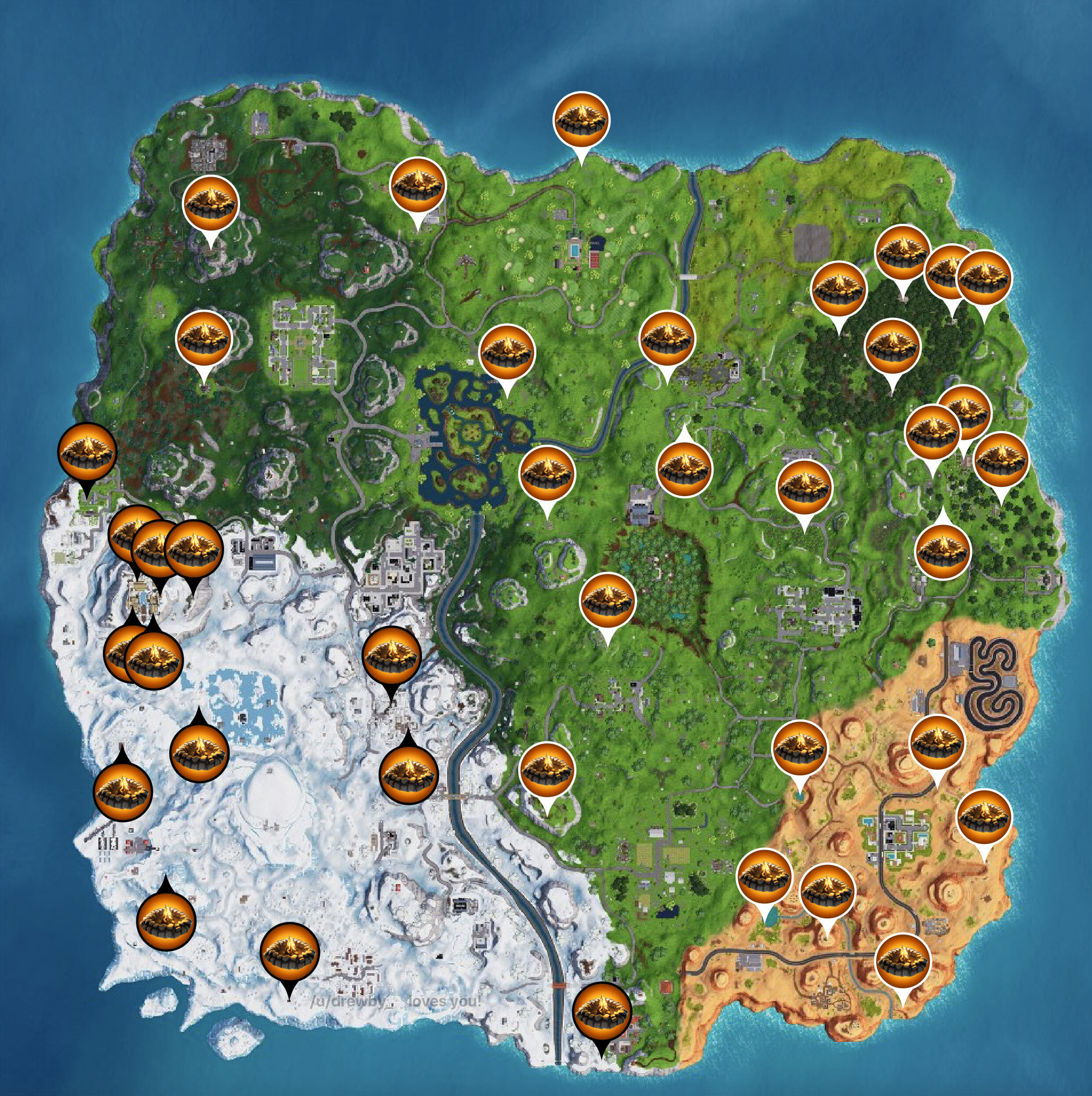 fortnite prisoner skin campfire locations