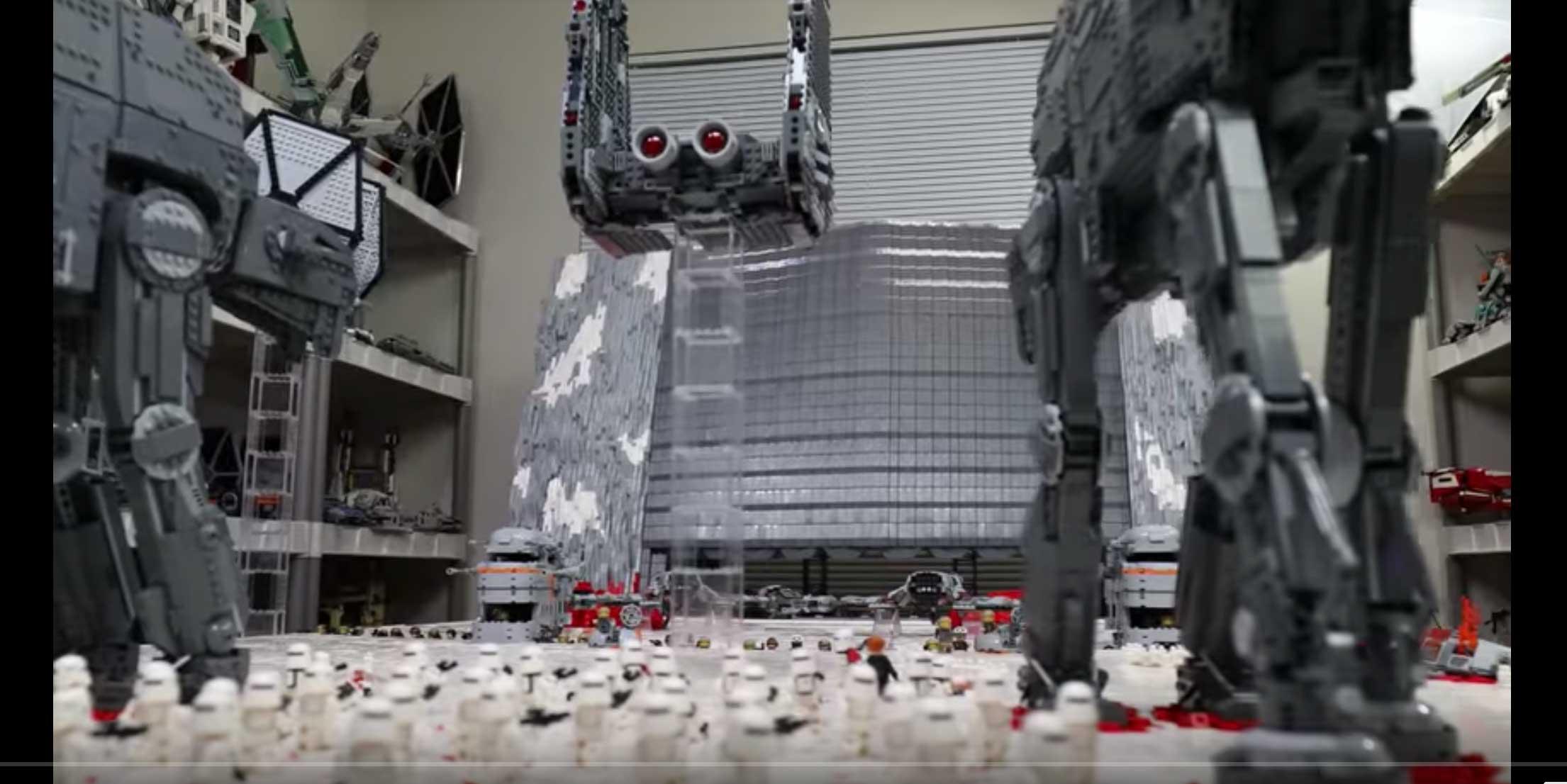 star war legos battle of crait