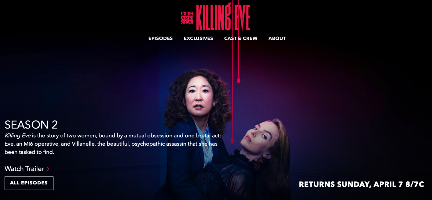 watch killing eve season 2 online free on BBC America