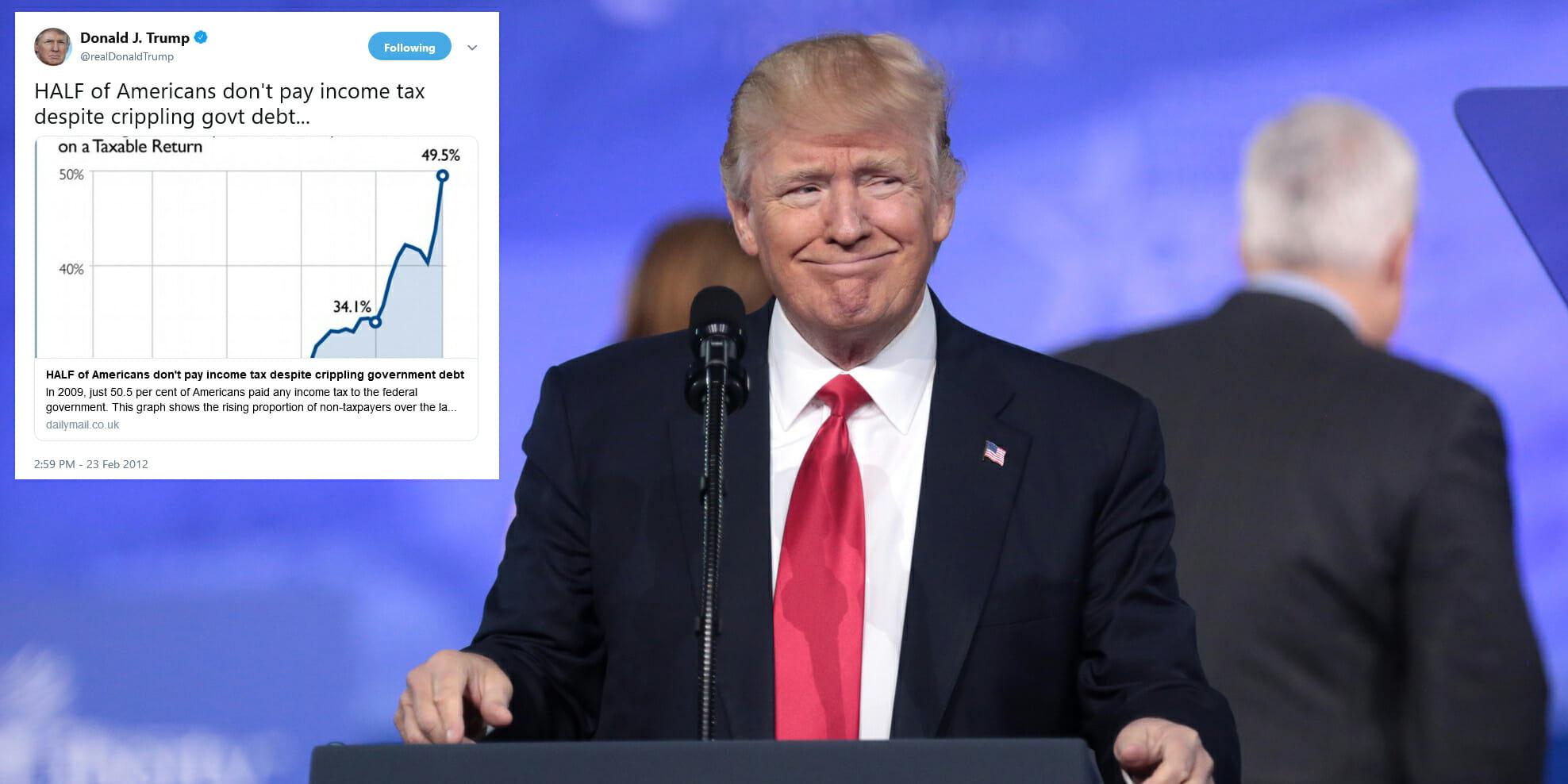 Donald Trump Income Tax Tweet