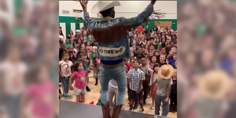 Lil Nas X Performs 'Old Town Road' for Elementary School Students