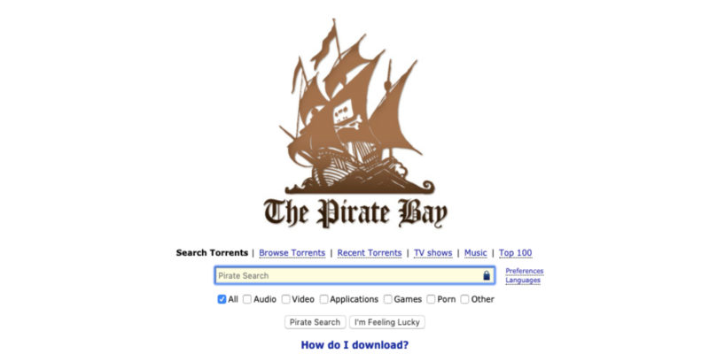 best torrenting sites 2019 the pirate bay
