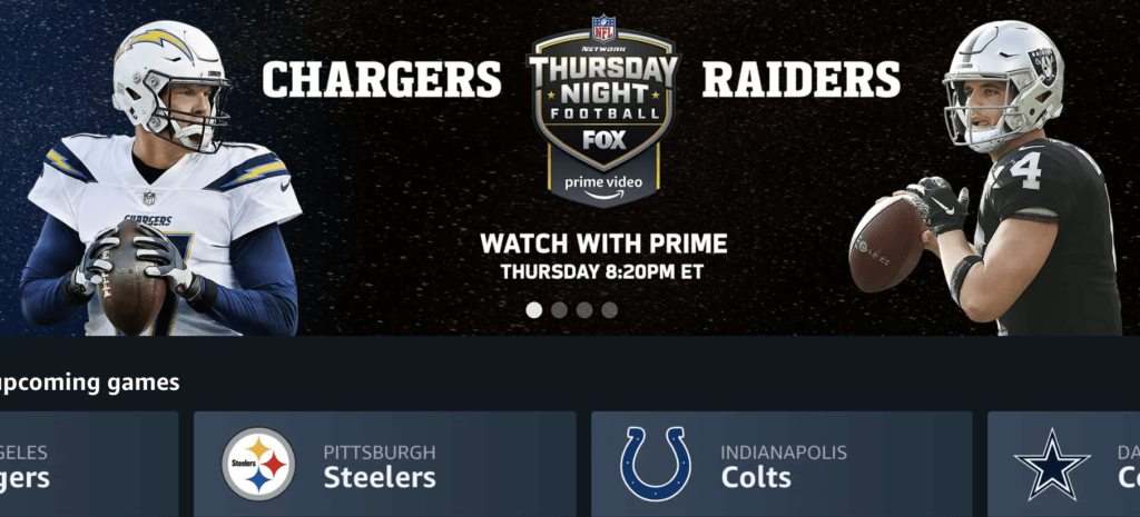 raiders chargers amazon streaming nfl