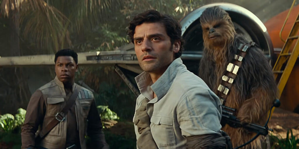 finn, poe, and chewbacca