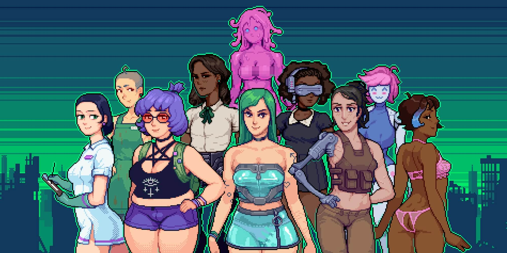 Trans porn game Hardcoded is embracing lesbian tentacle sex